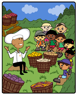 potato recipe coloring book for kids